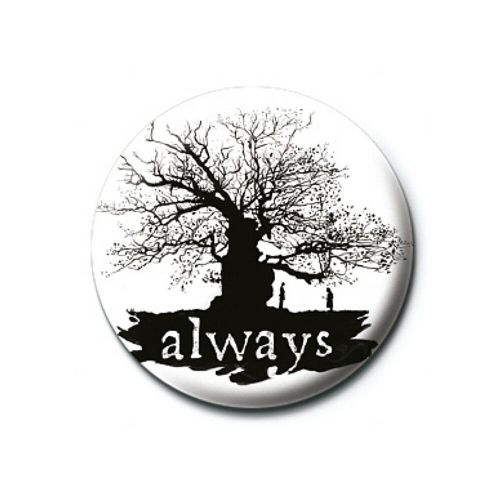 Harry Potter Always Silhouette Button Badge